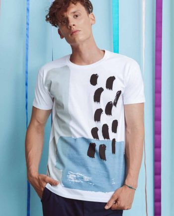 T-shirt with hand printed Levin Coco