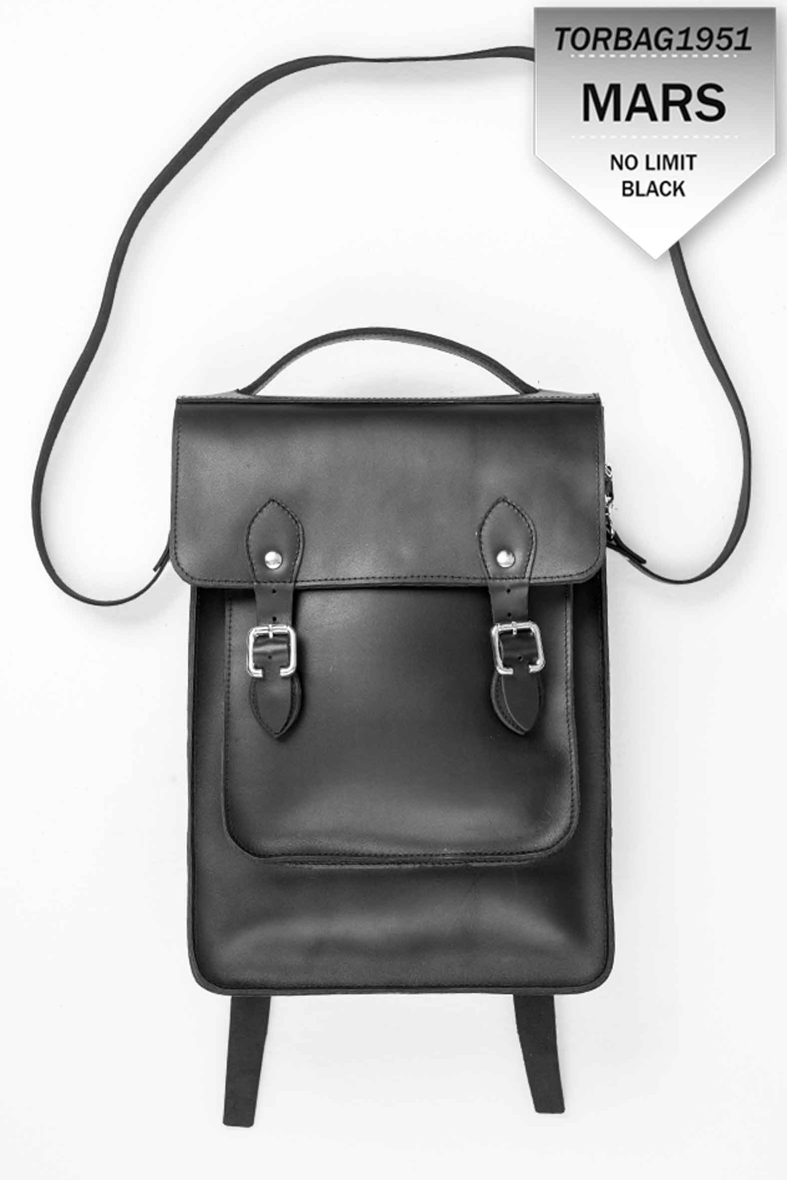 MARS Backpack leather black