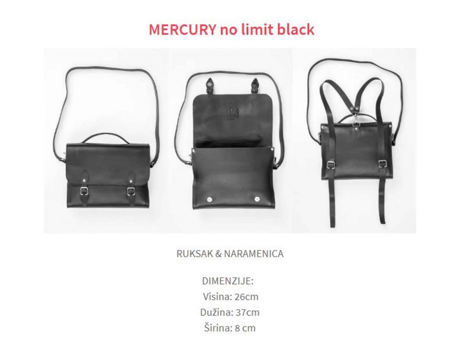 MERCURY Backpack leather size