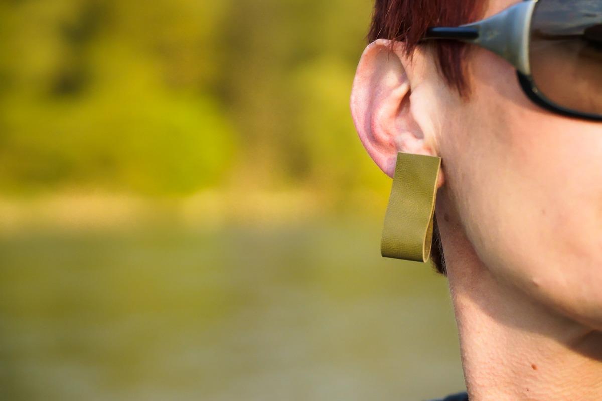 Leather Unique earrings