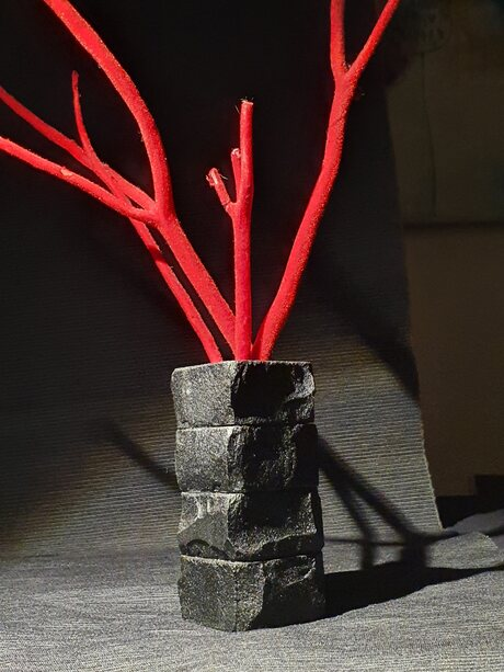 handmade candle holder and vase