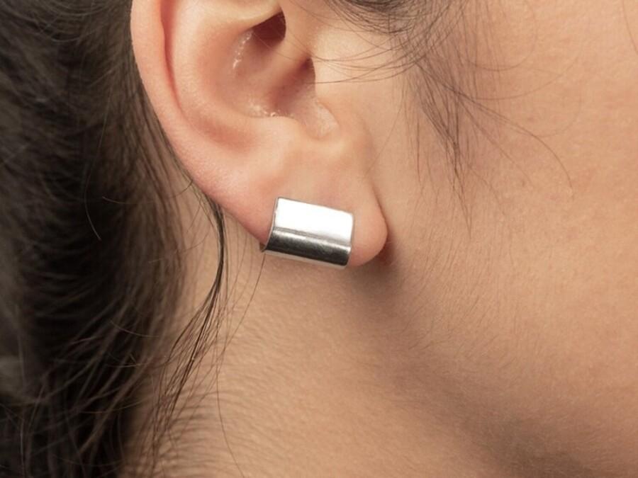Handmade Silver stud Earrings Halona
