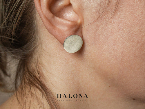 Different sized Circle stud Earrings Halona
