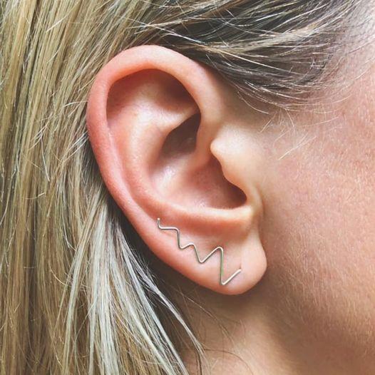 Handmade Silver Curve Earrings HALONA