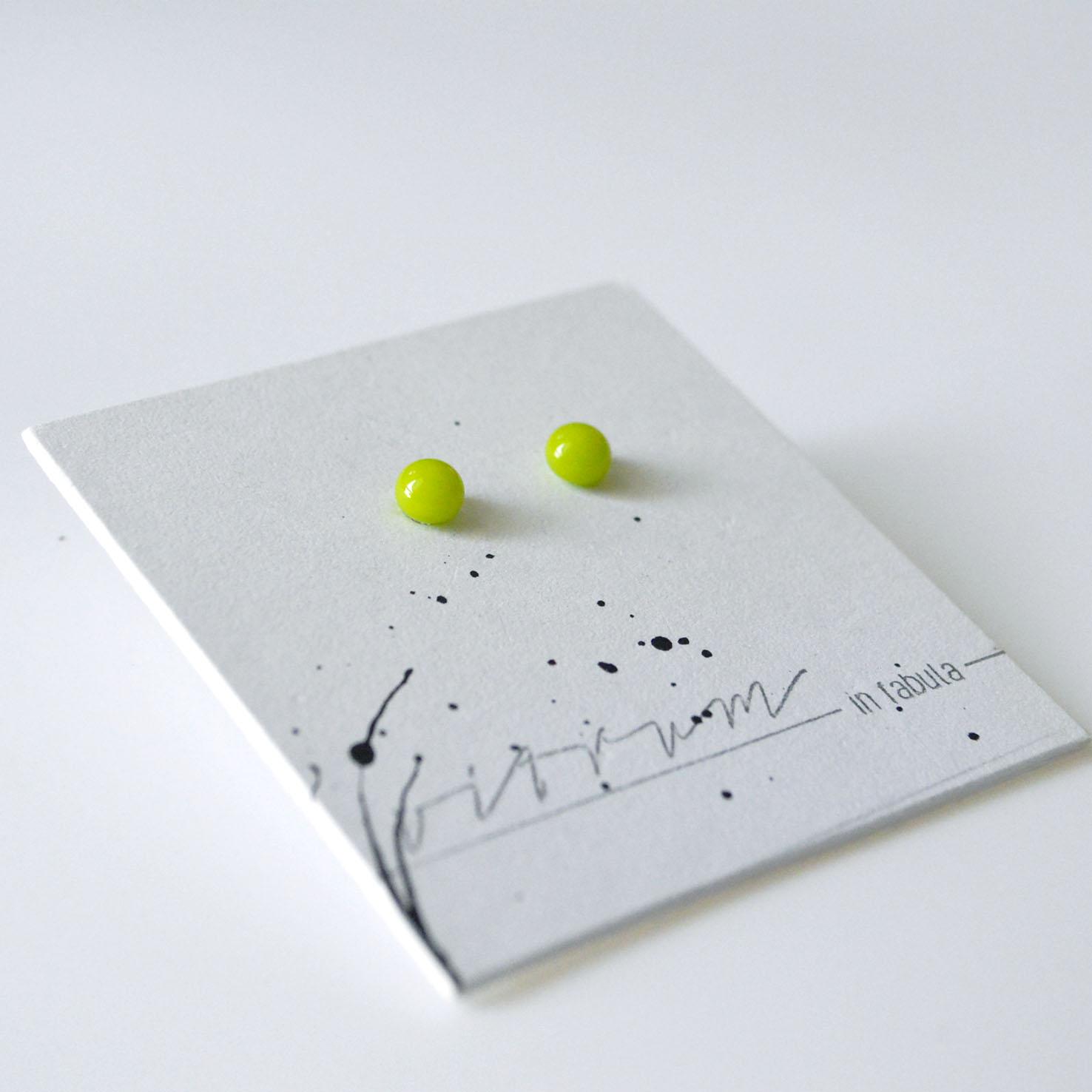 Glass earrings Vitrum In Fabula
